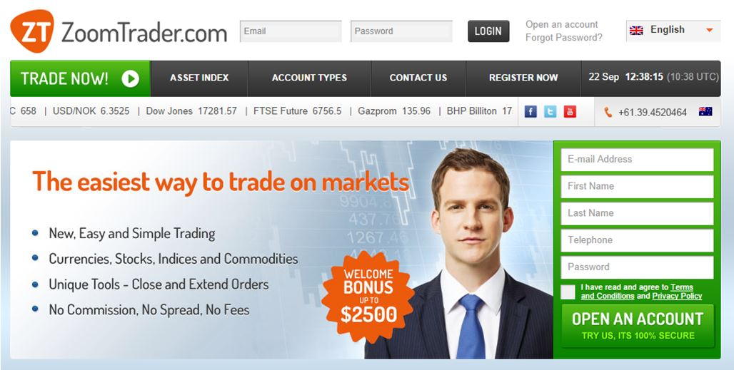 Zoomtrader binary options