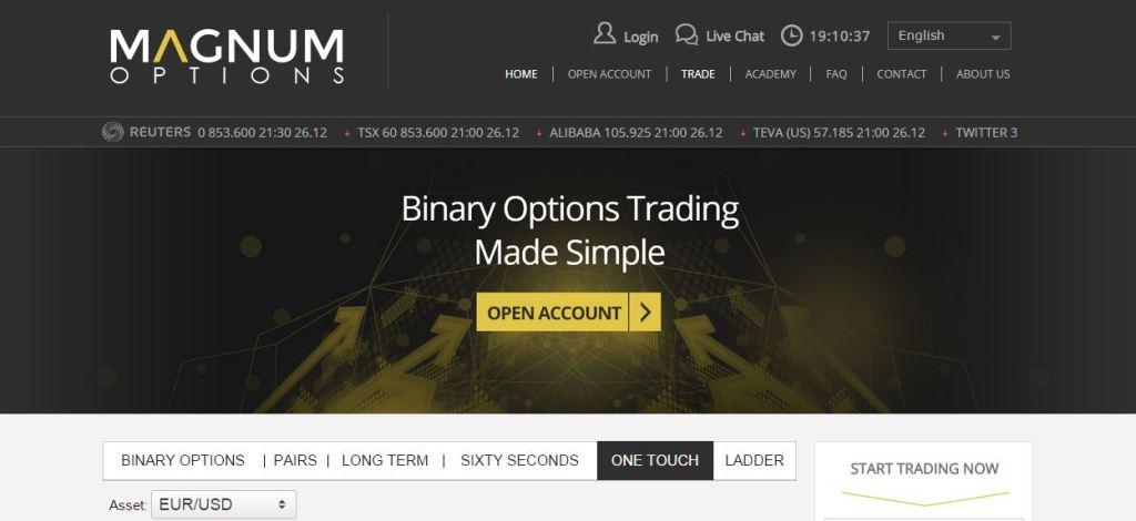 Magnum Options Website