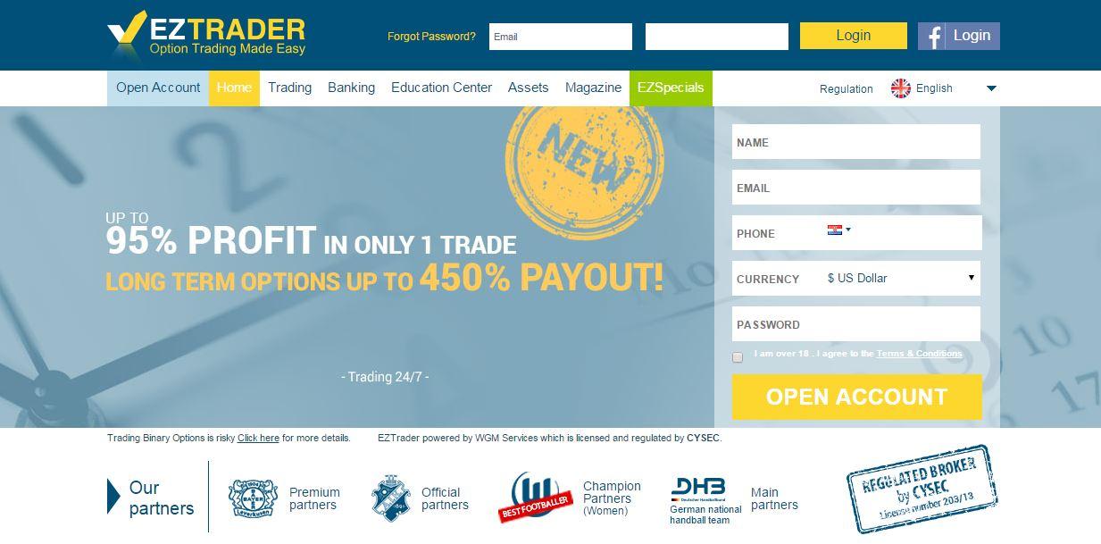EZTrader Login and Website