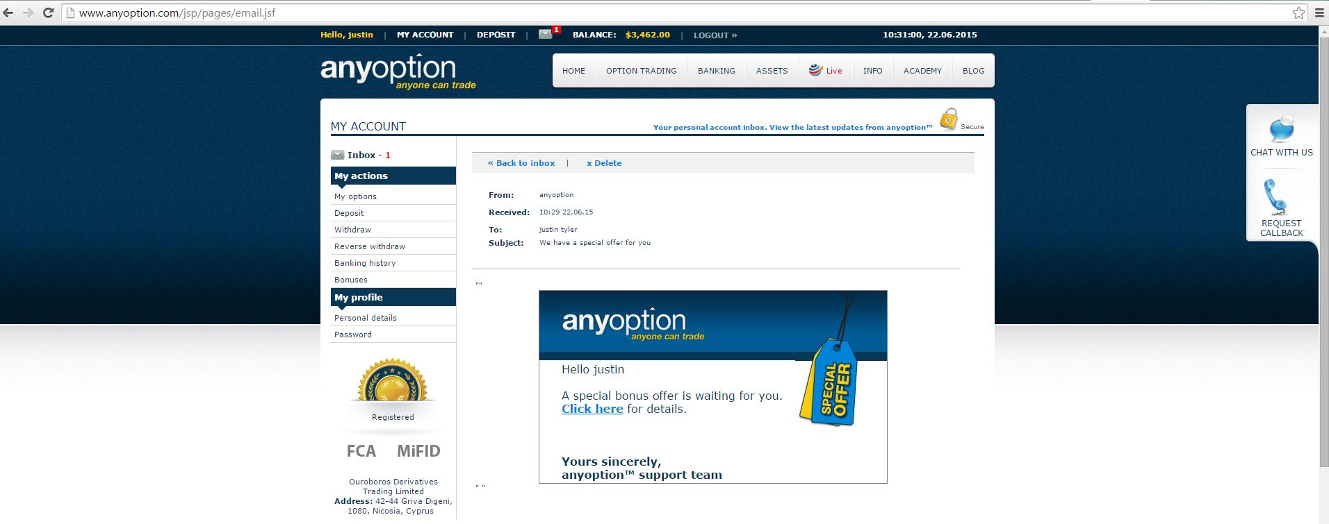binary options strategy anyoption complaints