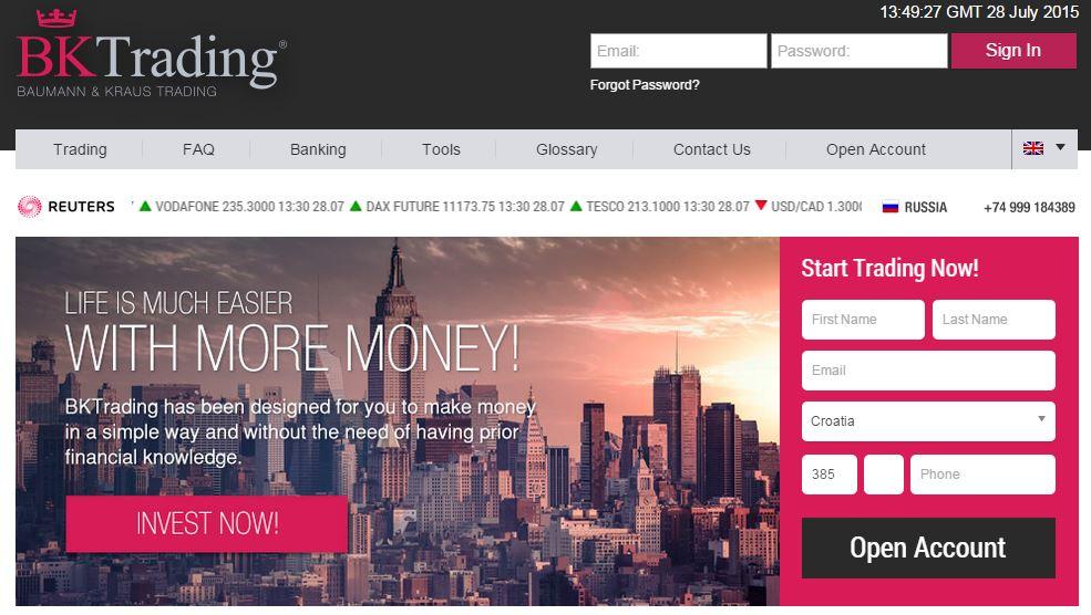 BKTrading Website