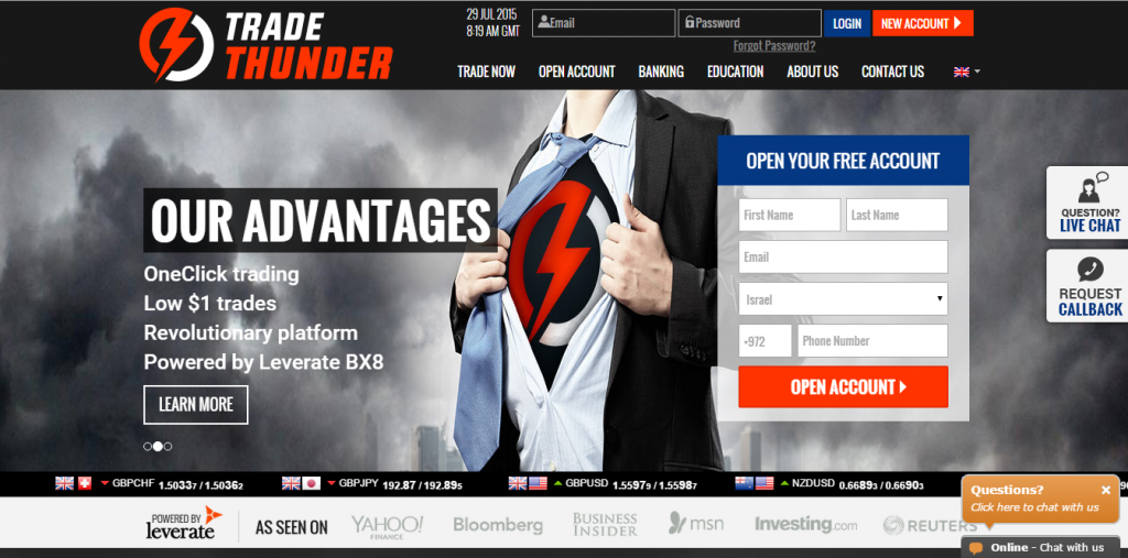 TradeThunder Homepage