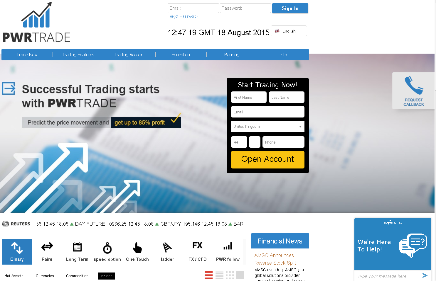 PWRTrade Home Page