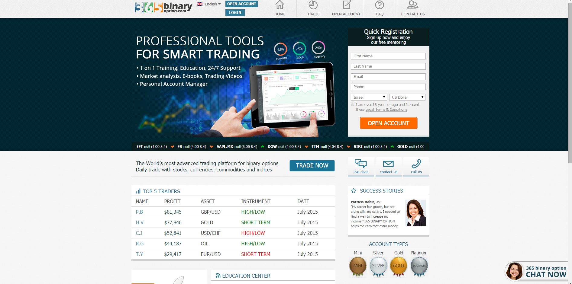 Are binary options legal in australia
