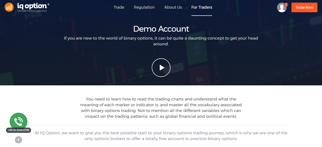 Demo account options trading