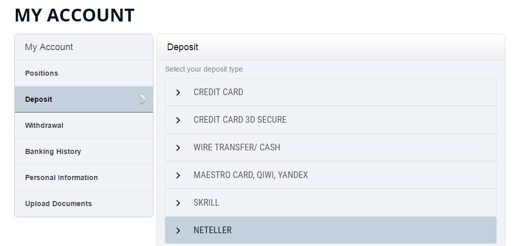 AlldayOption Deposit Methods