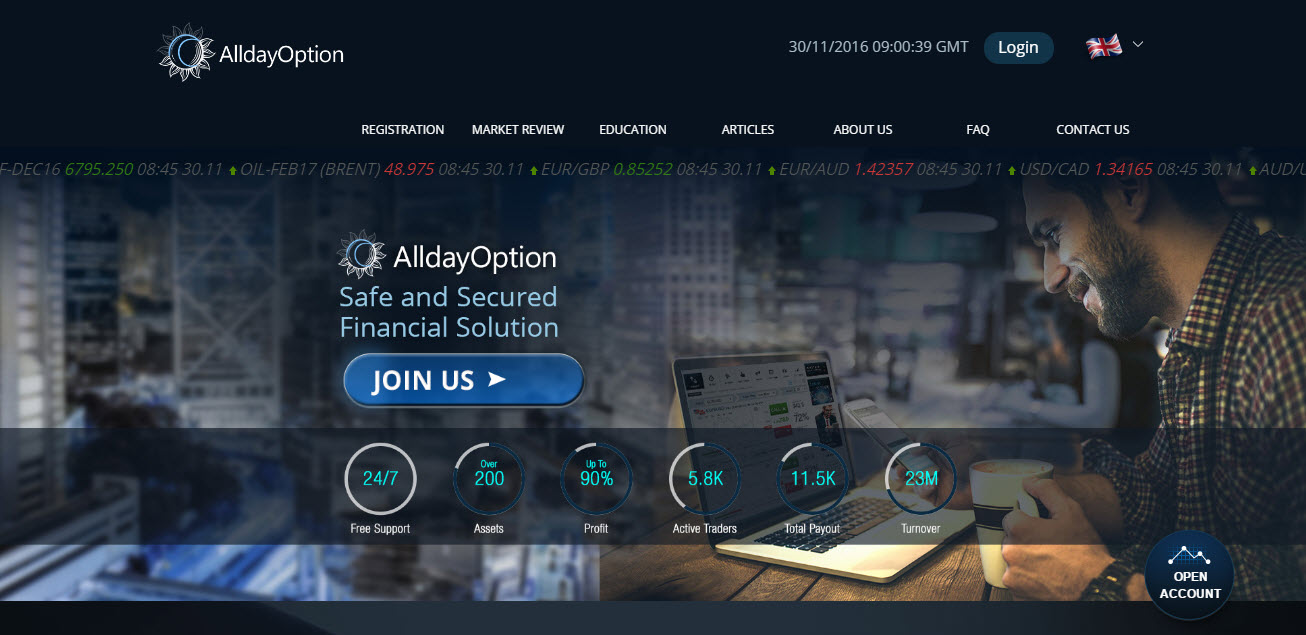 AlldayOption Home Page