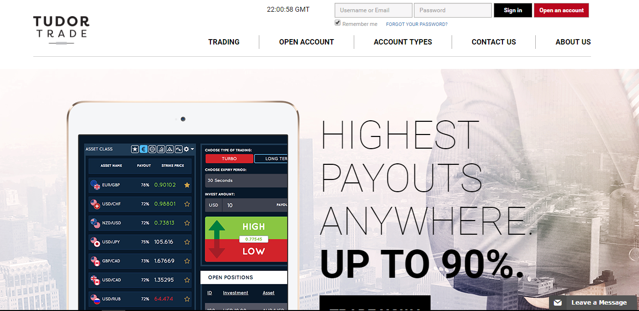 Binary options tudor