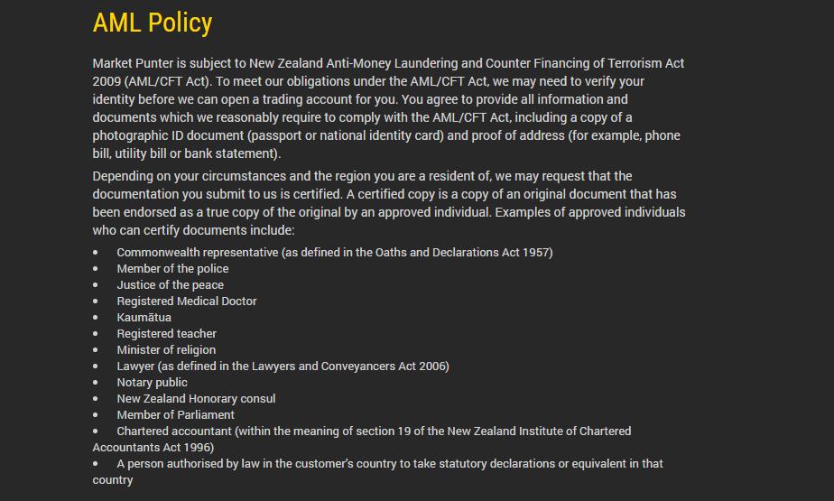 V8options AML Policy