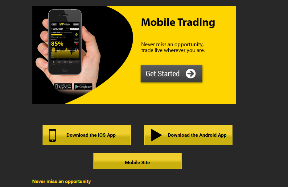 V8options Mobile App