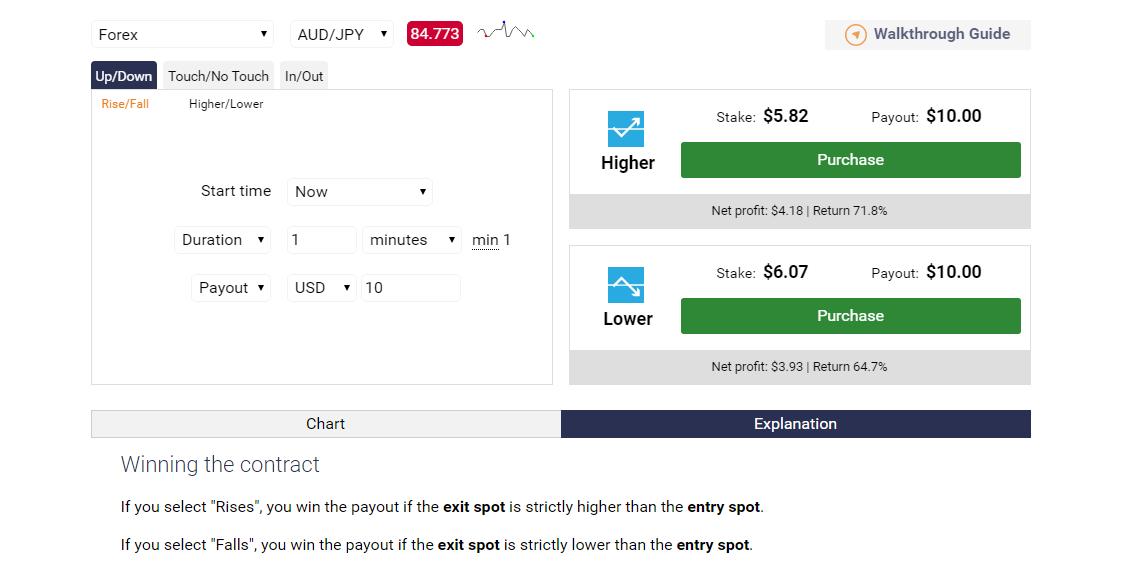 Binary.com Trading Platform