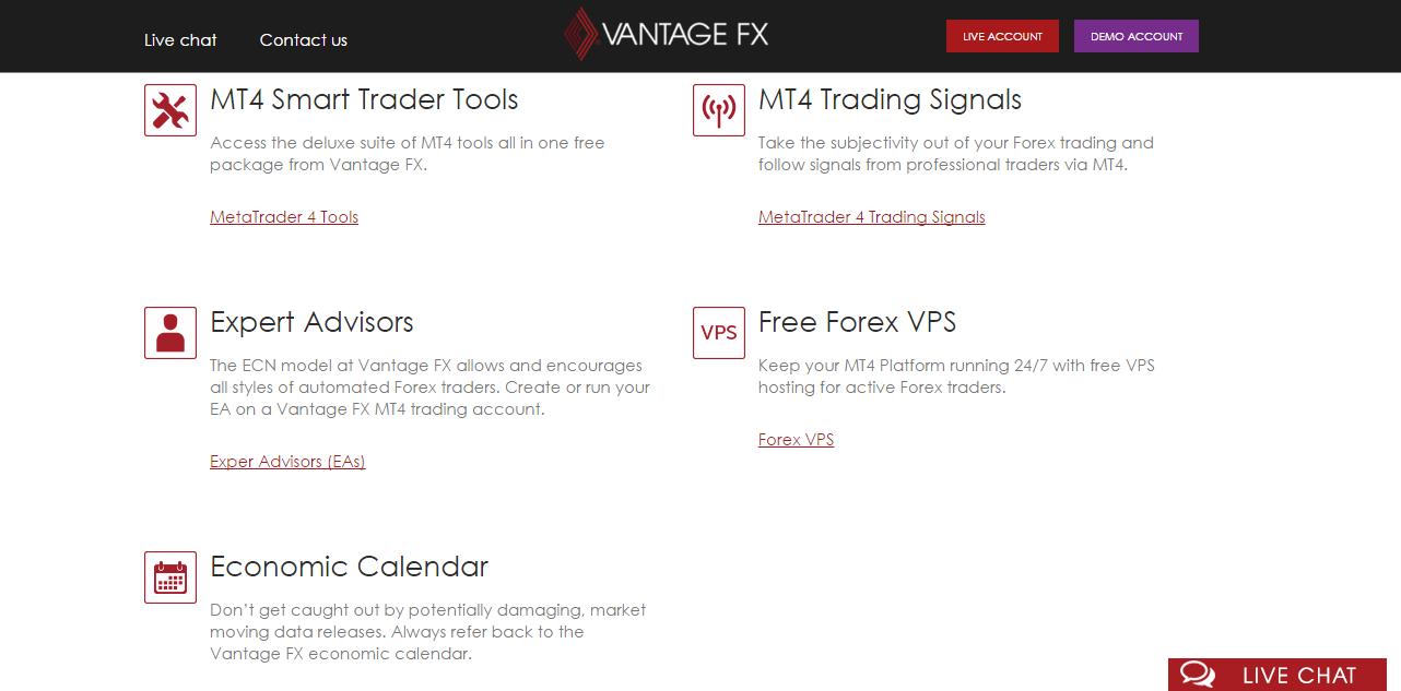 Vantage FX Trading Tools