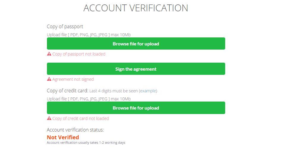 Finrally Account Verification