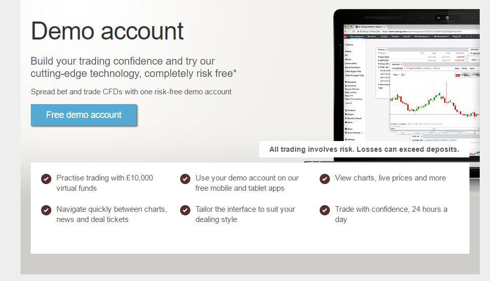 IG Demo Account Features