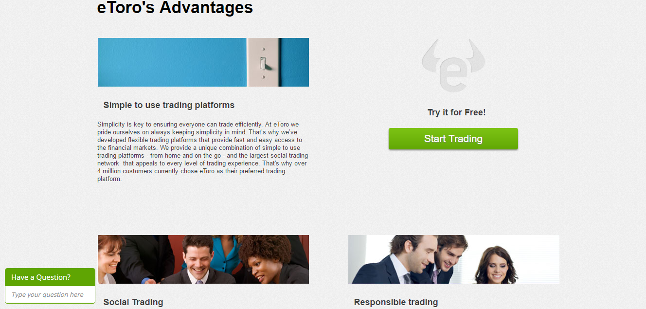 eToro Advantages