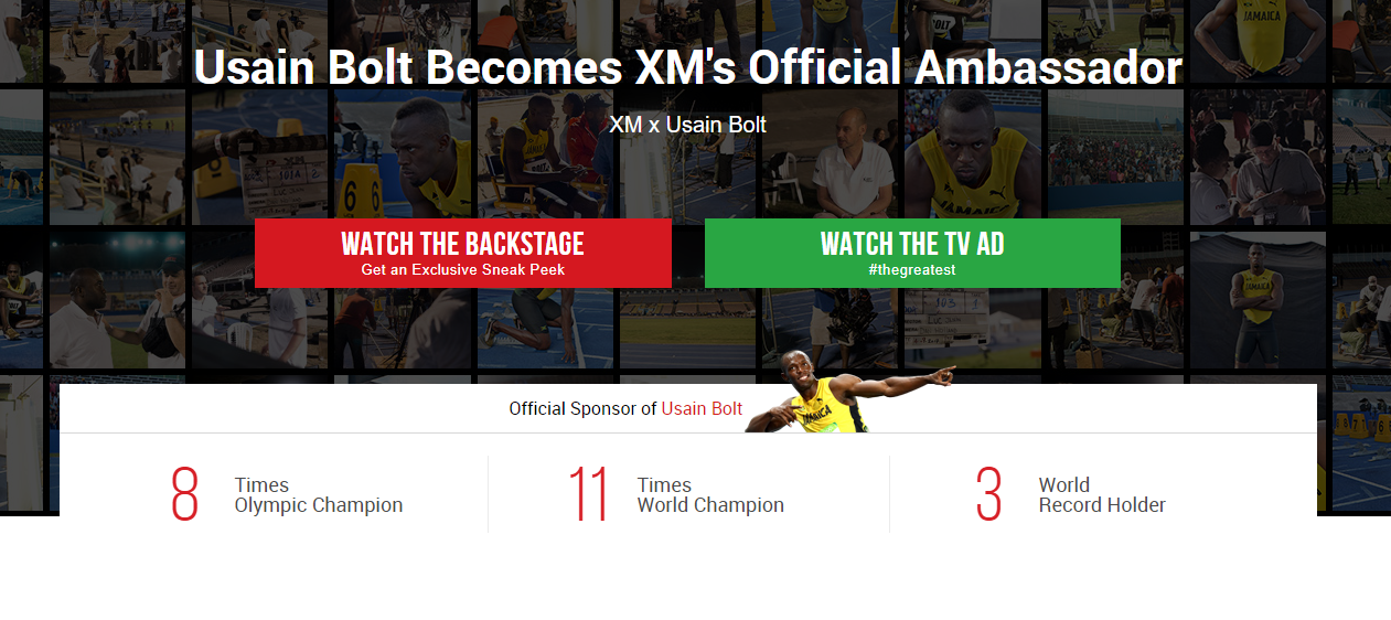 XM Usain Bolt Partnership