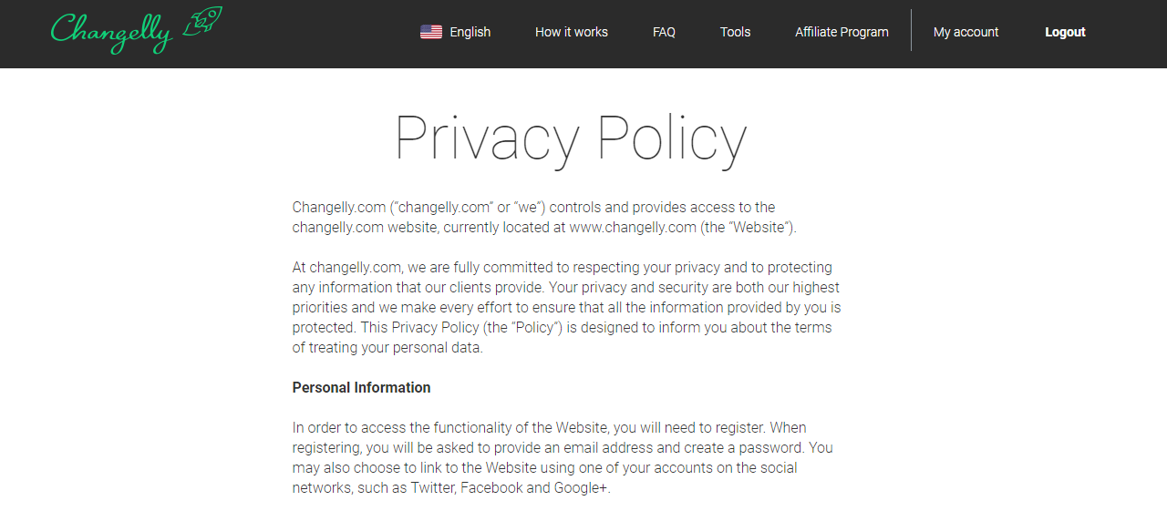 Changelly Privacy Policy