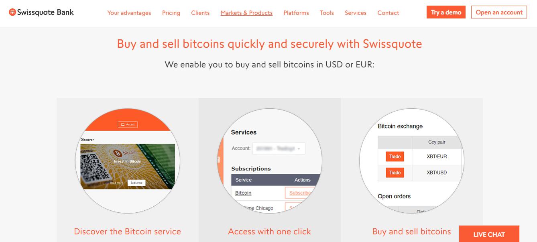 Swissquote Bitcoin Trading