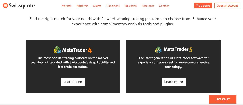 Swissquote Trading Platforms