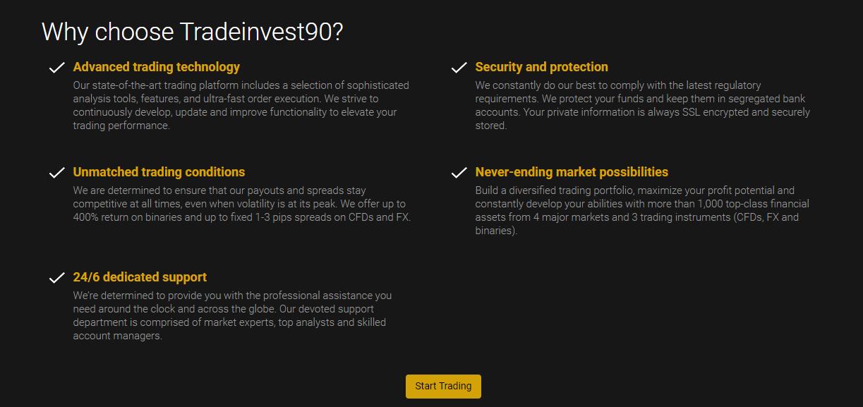 TradeInvest90 Features