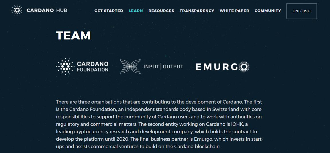 Cardano Organizations