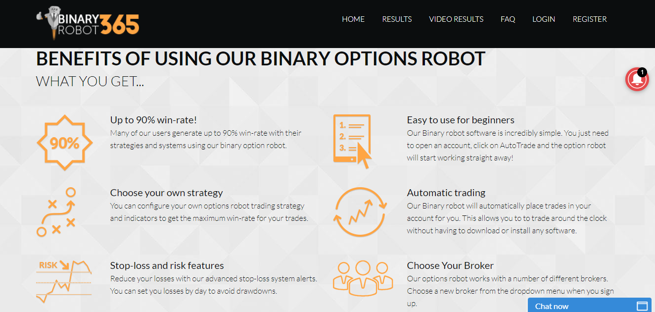 Binary Robot 365 Features