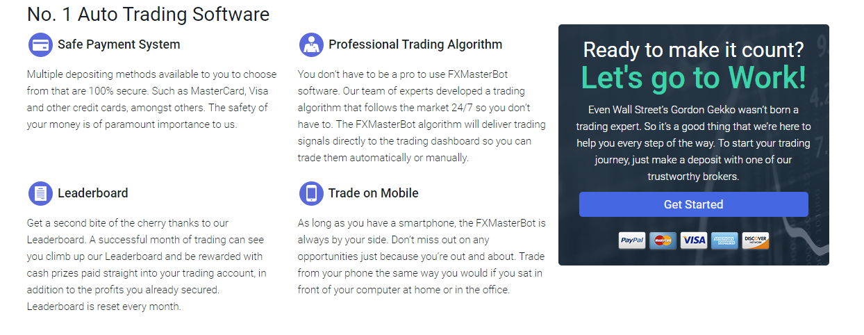 FXMasterBot Features