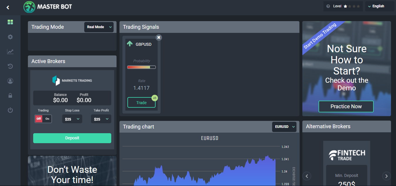 FXMasterBot Trading Platform