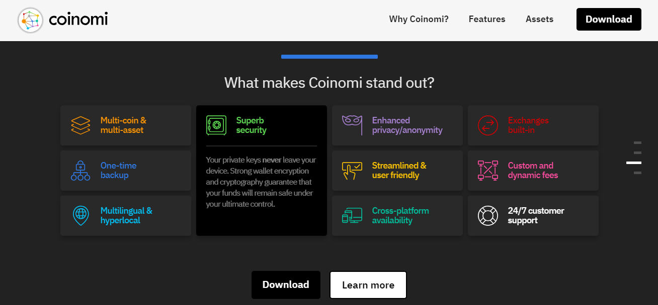 Coinomi Features
