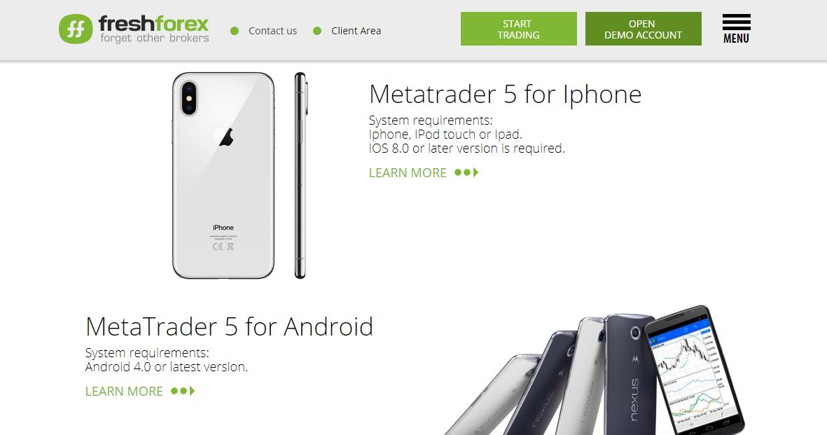 FreshForex Mobile Apps