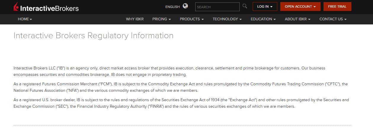 Interactive Brokers Regulation