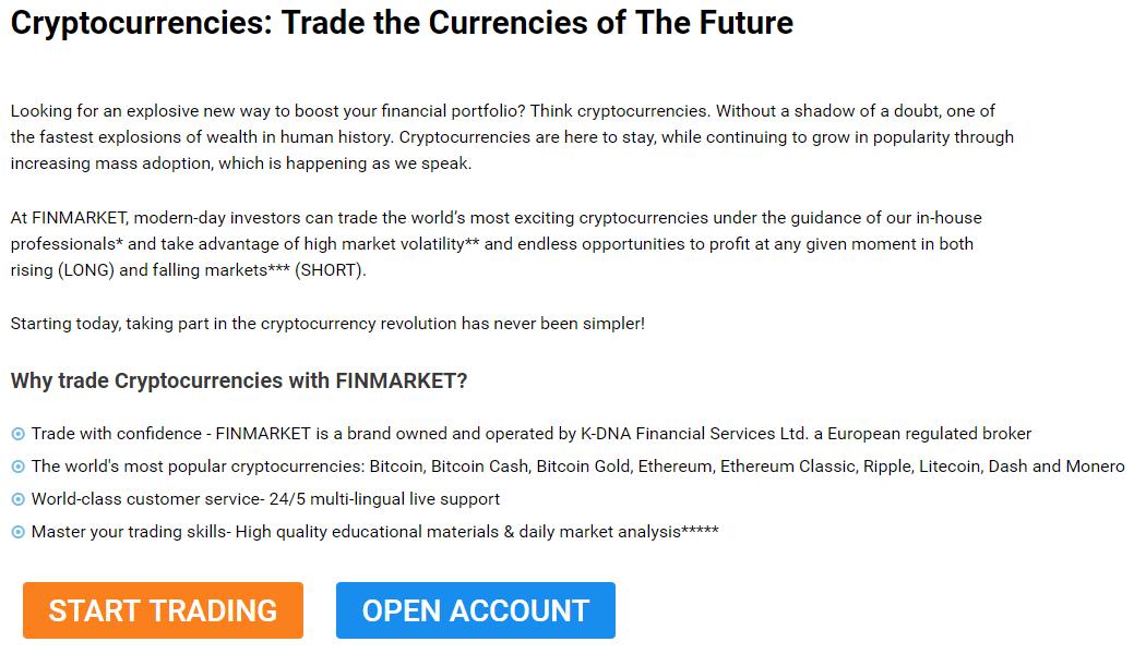 Finmarket Cryptocurrencies