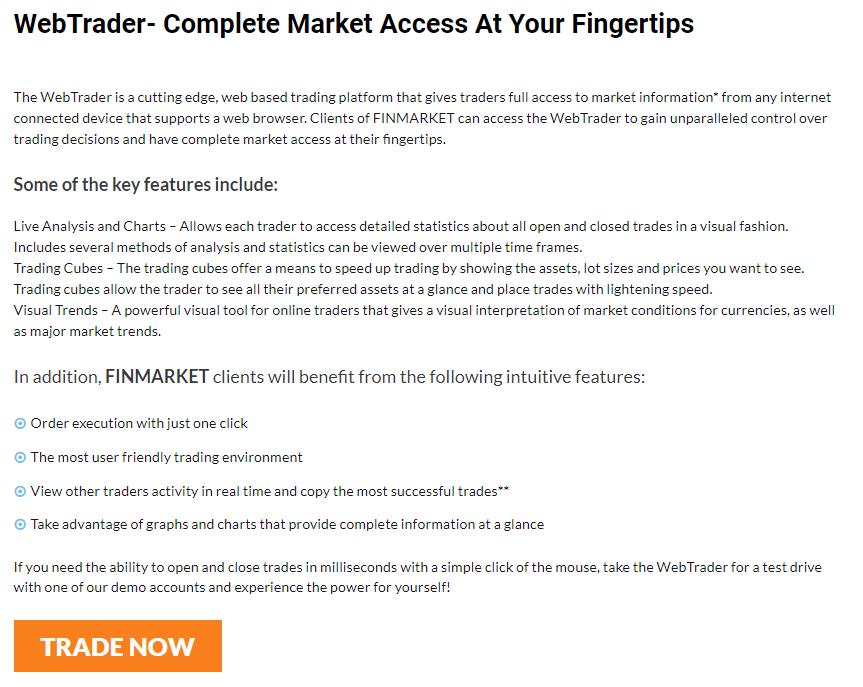 Finmarket Trading Platform